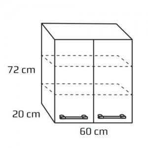 Szafka wisząca górna {Antado Prima BFM-128 60x20x72 cm}