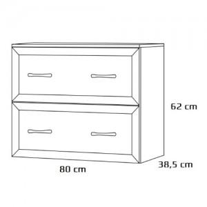 Szafka podumywalkowa {Antado Rustic RST-140 80×38,5×62 cm}
