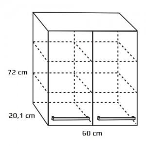 Szafka wisząca górna {Antado Spektra FDF-428 60×20,1×72 cm}
