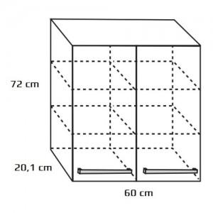 Szafka wisząca górna {Antado Variete 60×20,1×72 cm}