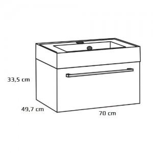 Szafka podumywalkowa {Antado Variete FDM-442 60 x 49,7 x 33,5 cm}