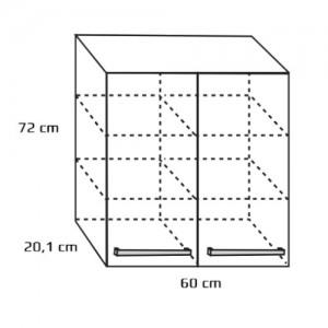 Szafka wisząca górna {Antado FM-428-9017 60×20,1×72 cm}
