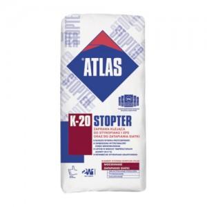 Zaprawa klejąca do styropianu i XPS oraz do zatapiania siatki {ATLAS STOPTER K-20 25 kg}