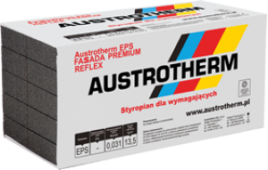 Styropian elewacyjny {Austrotherm EPS FASSADA PREMIUM REFLEX31 100 mm}