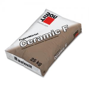 Zaprawa do fugowania szorstkich, chłonnych płytek elewacyjnych {Baumit Ceramic F srebrno-szary 25kg}