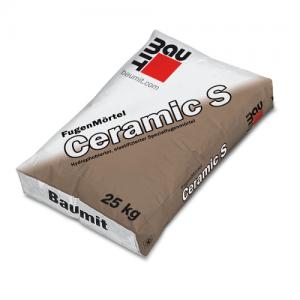 Zaprawa do fugowania gładkich, nienasiąkliwych płytek elewacyjnych {Baumit Ceramic S srebrno-szary 25kg}
