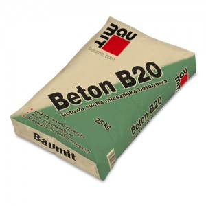 Gotowa sucha mieszanka betonowa {Baumit Beton B20 25 kg}
