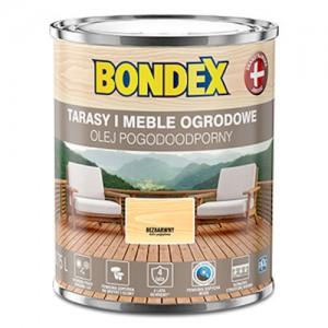 Olej do zabezpieczania tarasów i mebli {Bondex Olej Pogodoodporny 0,75l}