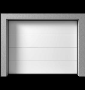 Brama garażowa {Krispol segmentowa K2 RFS / Antracyt 2400/2100 mm}