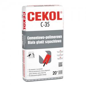 Cementowo-polimerowa gładź szpachlowa {Cekol C-35 biała 20 kg}