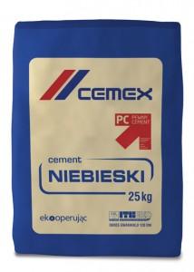 Cement niebieski {Cemex portlandzki wieloskładnikowy CEM II/B-M 32,5 R 25 kg}