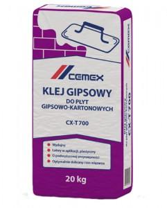 Klej gipsowy do płyt gipsowo - kartonowych {Cemex CX-T700 20 kg}