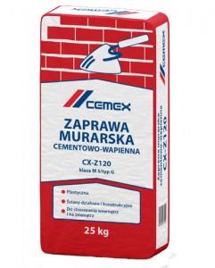 Zaprawa murarska cementowo-wapienna {Cemex CX-Z120 25 kg}