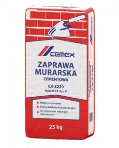Zaprawa murarska cementowa {Cemex CX-Z220 25 kg}
