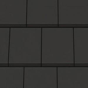 Dachówka ceramiczna {Creaton DOMINO czarna matowa angobowana}