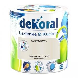 Farba lateksowa emulsyjna {Dekoral Łazienka & Kuchnia 2,5 l}