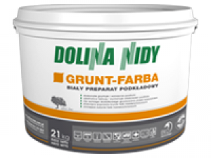 Biały preparat podkładowy  {Dolina Nidy GRUNT-FARBA 21 kg}