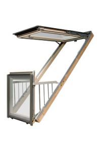 Okno dachowe-balkonowe {Fakro Galeria}