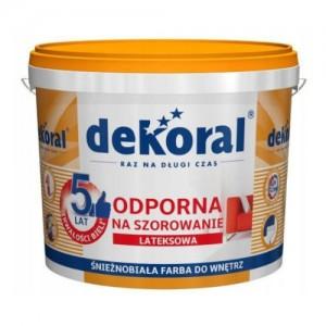 Farba lateksowa odporna na szorowanie {Dekoral Akrylit W PLUS 10 l}