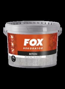 Tynk dekoracyjny wapienny do wnętrz {Fox Dekorator Beton 5kg}