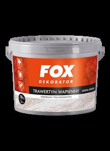 Tynk dekoracyjny  mineralny do wnętrz {Fox Dekorator Trawertyn wapienny 5kg}