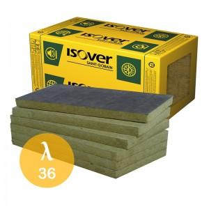 Wełna mineralna skalna {ISOVER VENTITERM PLUS 36 100 mm, 2,16 m2/paczka}