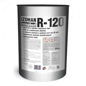 Transparentna powłoka impregnacyjno-ochronna {IZOHAN RENOBUD R-120 25 kg}
