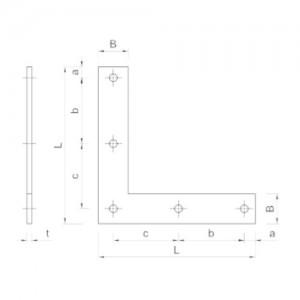 Kątownik narożnikowy {Koelner D_KN 150×150 mm}