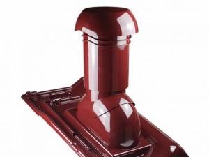 Kominek wentylacyjny {IVT TRIVENTA Ø 125mm, do dachówek ceramicznych Monier/Braas}