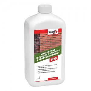 Koncentrat czyszczący wykwity i resztki cementu {Sopro ZA 703 1 l}