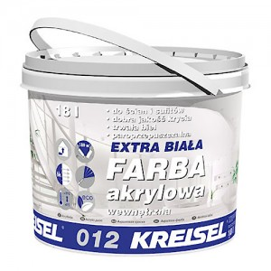 Akrylowa farba wewnętrzna {Kreisel EXTRA BIAŁA FARBA AKRYLOWA 012 10 l}