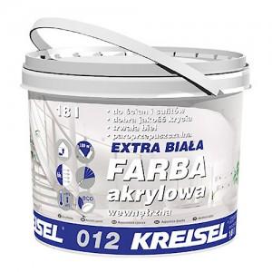 Akrylowa farba wewnętrzna {Kreisel EXTRA BIAŁA FARBA AKRYLOWA 012 18 l}
