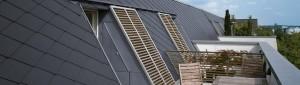 Płytki dachowe {Euronit krycie francuskie 40×40 cm grafit}