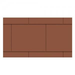 Płytki dachowe {Euronit krycie podwójne w cegiełkę 60×30 cm}