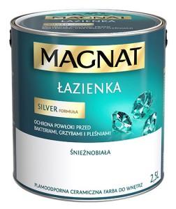 Farba lateksowa do ścian {Magnat łazienka biały 2,5 l}