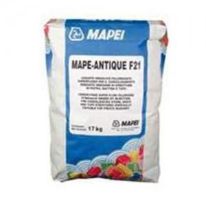 Bezcementowa kompozycja spoiwa wapiennego i ekologicznej pucolany {Mapei MAPE-ANTIQUE F21 17kg}