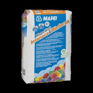 Oddychająca zaprawa na bazie naturalnego, hydraulicznego spoiwa wapiennego {Mapei MAPEWALL INTONACA & RINFORZA 25kg}