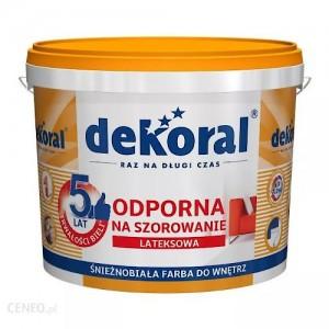 Odporna na szorowanie farba lateksowa {Dekoral Akrylit W PLUS 1 l}