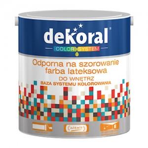 Odporna na szorowanie farba lateksowa {Dekoral 2,5 l}