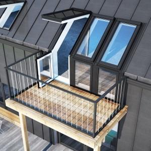 Okno dachowe {Velux Balkonowe GEL 3065 78 x 136}