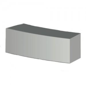 Siedzisko łukowe {Pebek Cubico BETON ARCHITEKTONICZNY 145×50cm}