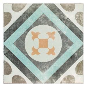 Płytka ścienna {Ceramika Color Bordeaux Beige 1 Dekor 20x20cm}