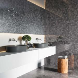 Płytka ceramiczna {Nowa Gala Imperial Graphite IG 13 poler mozaika 27 x 27 cm}