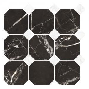 Płytka ceramiczna {Nowa Gala Magic Black MB 14 poler mozaika 33 x 33 cm}