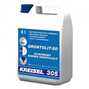 Silikonowy środek gruntujący {Kreisel GRUNTOLIT-SO 305 5 l}