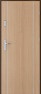 PORTA {Drzwi wejściowe do mieszkania KOLEKCJA AGAT Plus MODEL frezowane MODEL 9}