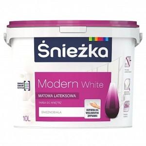 Farba lateksowa {Śnieżka Modern white 5 l}