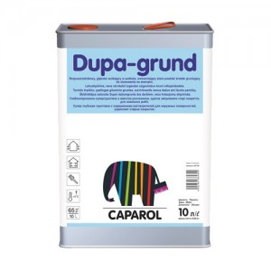 Środek gruntujący na bazie rozpuszczalników o działaniu wzmacniającym stare powłoki {Caparol Dupa-grund 5 l}