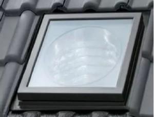 Świetlik tunelowy do dachów skośnych {Velux TLR 2010 OK14}