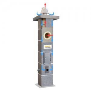System kominowy {Hoch Uniwersal Niezależny S Ø 180 mm 6 m}